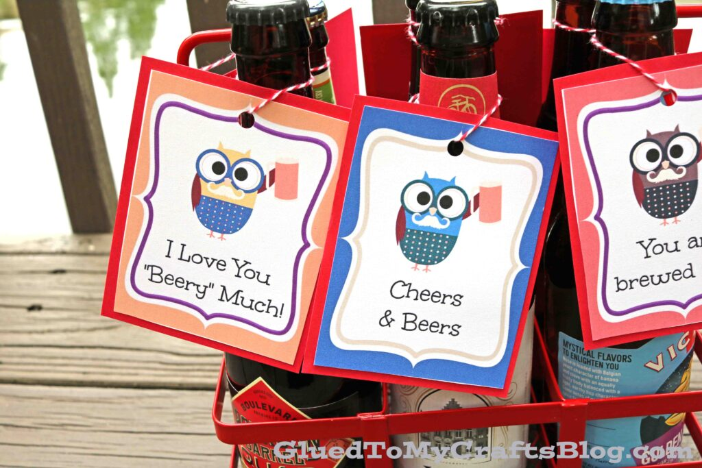 Valentine's Day Beer Gift Tag Printable For Men