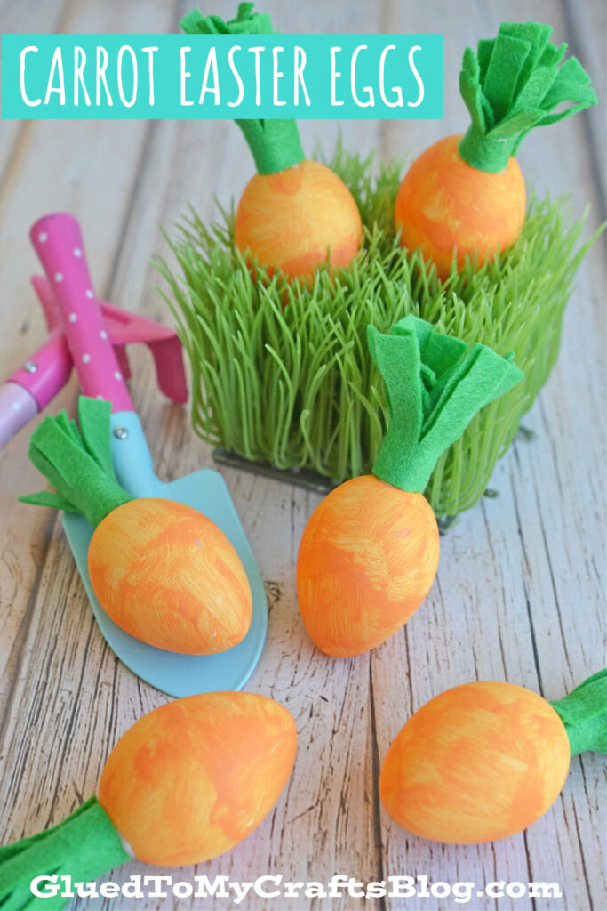 DIY Carrot Easter Egg Pieces For Your Spring Decor!