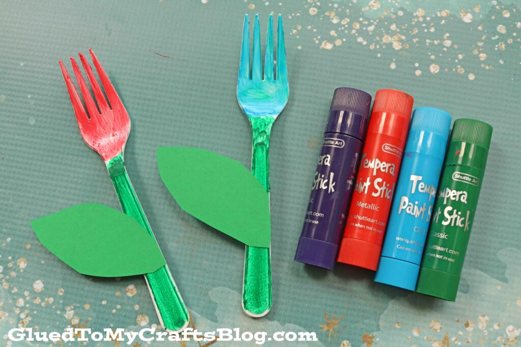 Plastic Fork Spring Flowers - Kid Craft