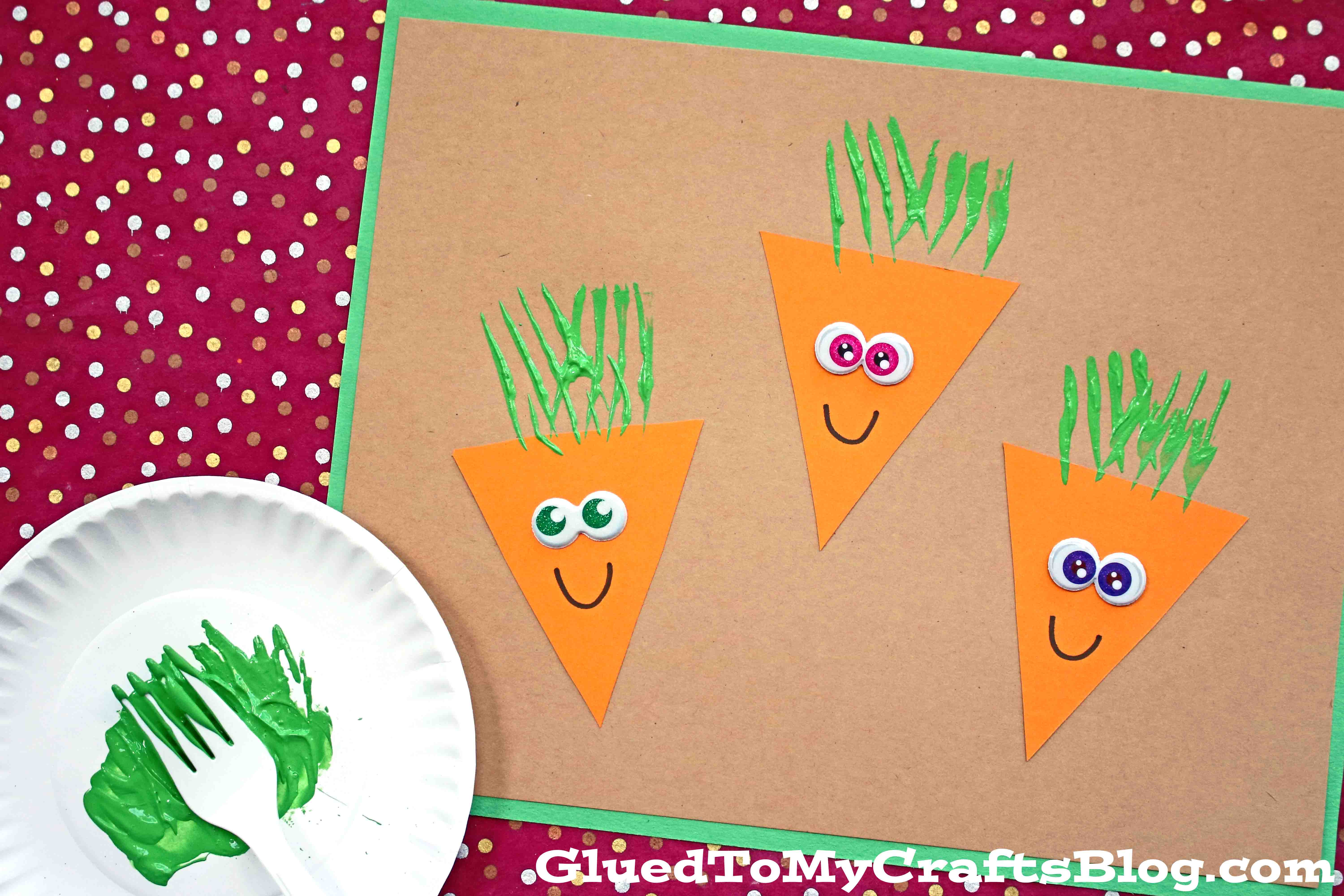 Paper & Fork Carrot Craft For Toddlers To Make This Spring!