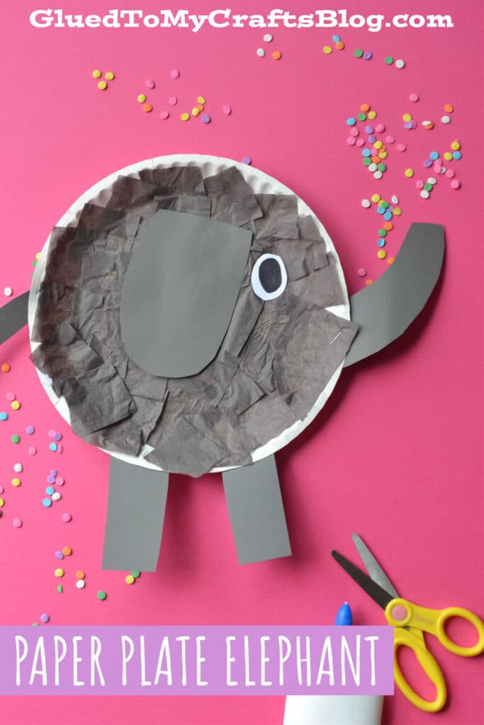 Paper Plate Elephant - Kid Craft Idea