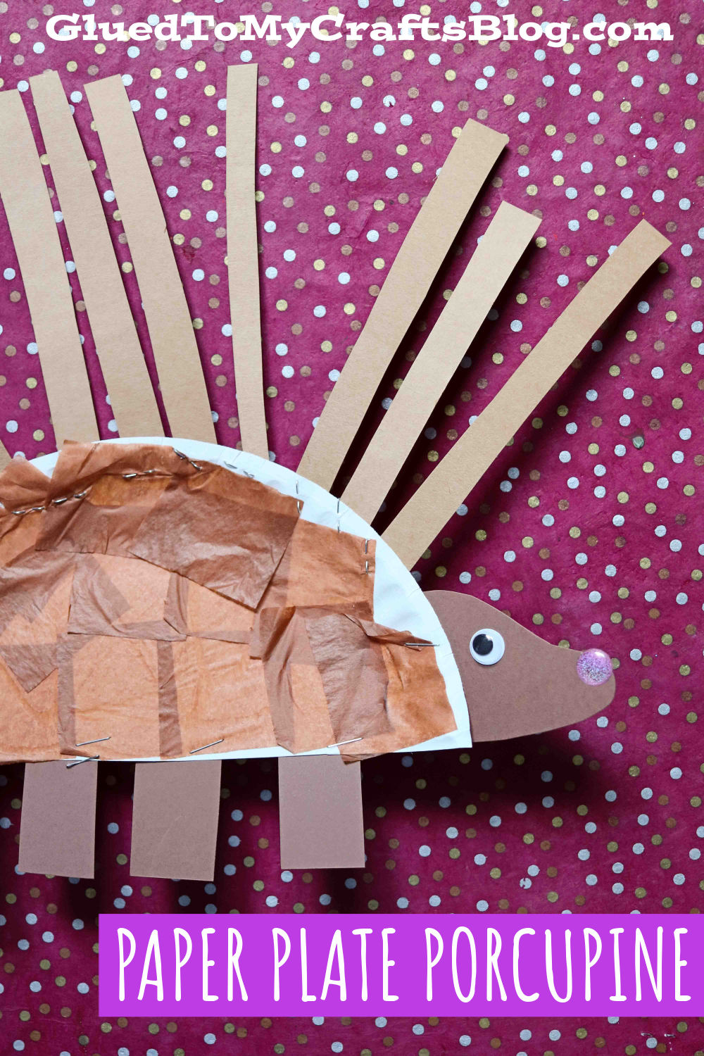 Paper Plate Porcupine - Kid Craft Idea That is Poke-Free!