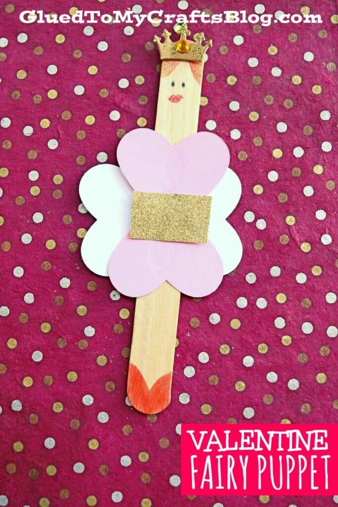 Paper & Popsicle Stick Valentine Fairies - Kid Craft