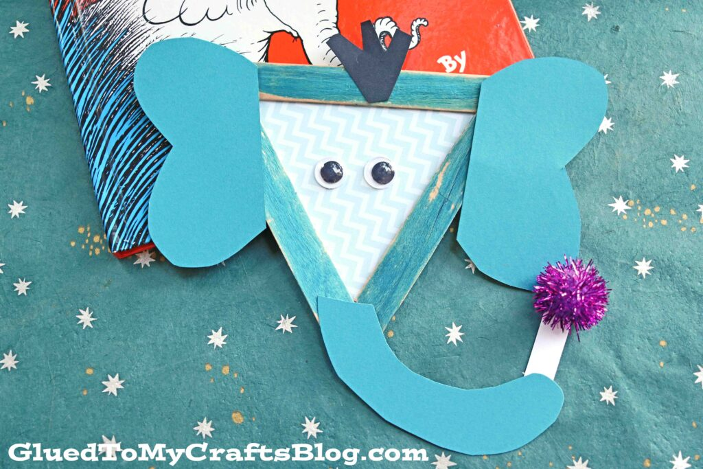 Dr Seuss Inspired Popsicle Stick Horton - Kid Craft Idea