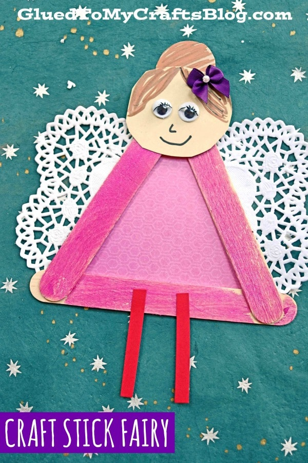 Popsicle Stick Garden Fairies - Kid Craft Idea For Spring