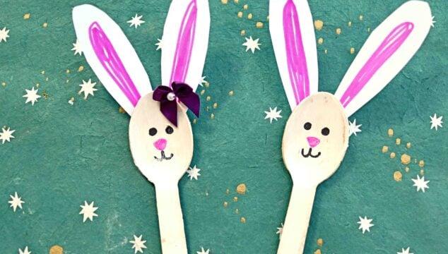 Wooden Spoon Bunnies - Kid Craft