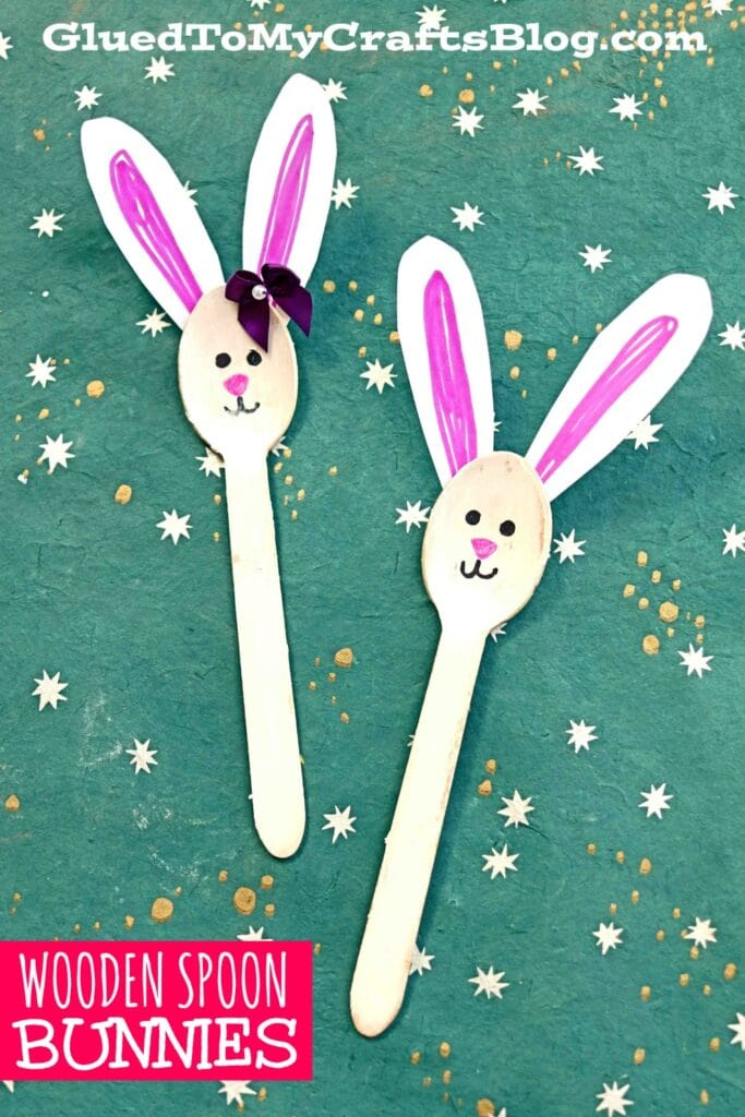 Wooden Spoon Bunnies - Kid Craft