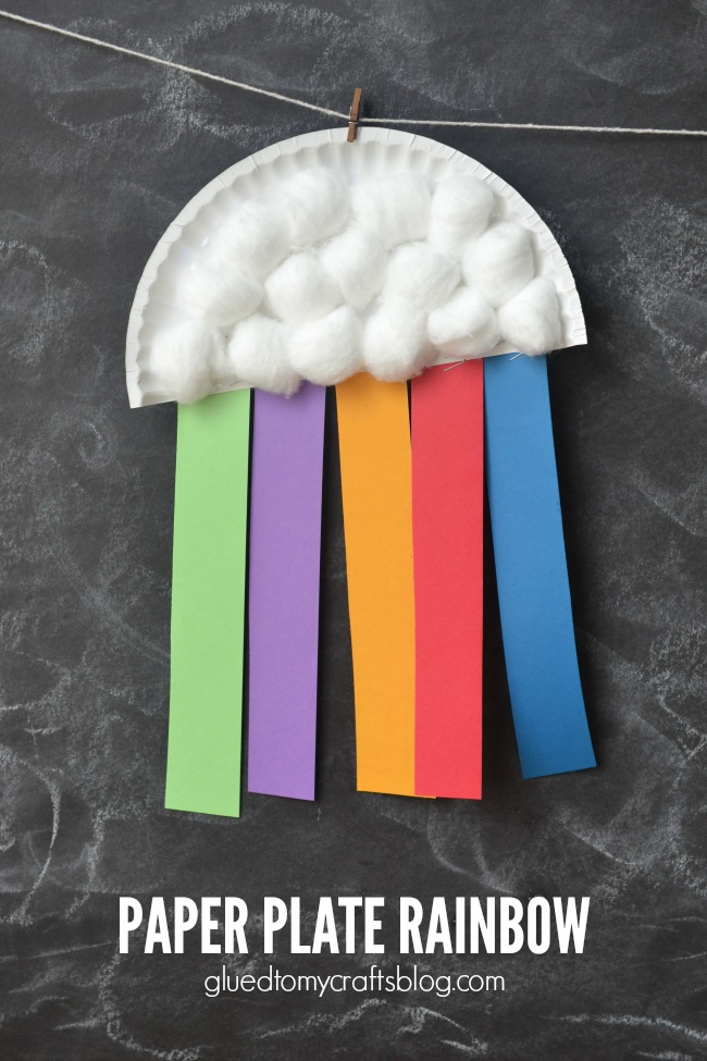 Paper Plate Rainbow - Kid Craft