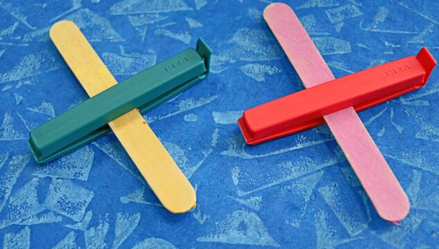 How To Make Chip Clip & Popsicle Stick Airplanes - Kid Craft