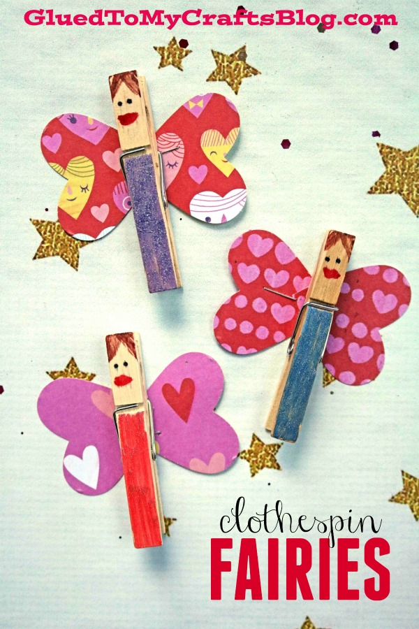 Paper & Wood Clothespin Fairies - Spring Kid Craft