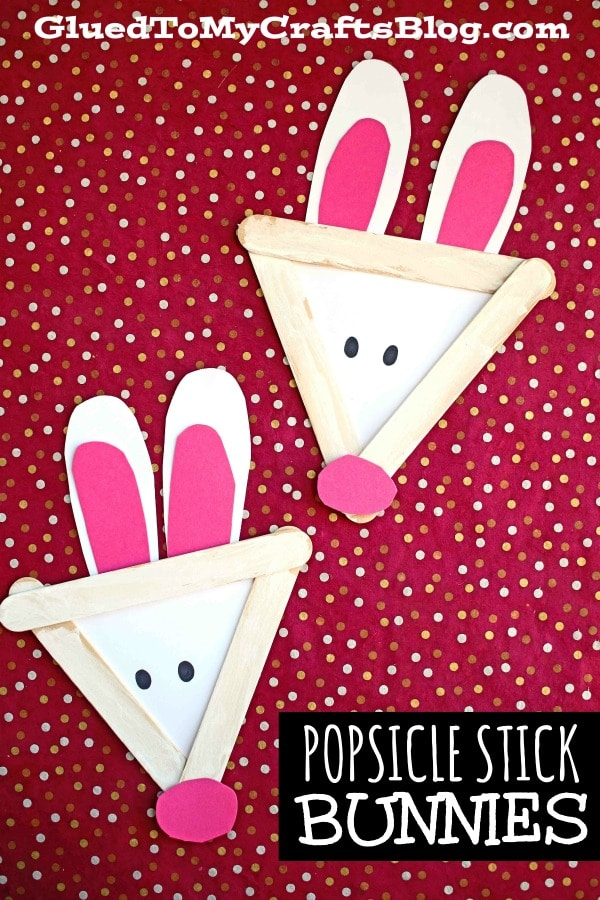 Popsicle Stick Bunny - Kid Craft