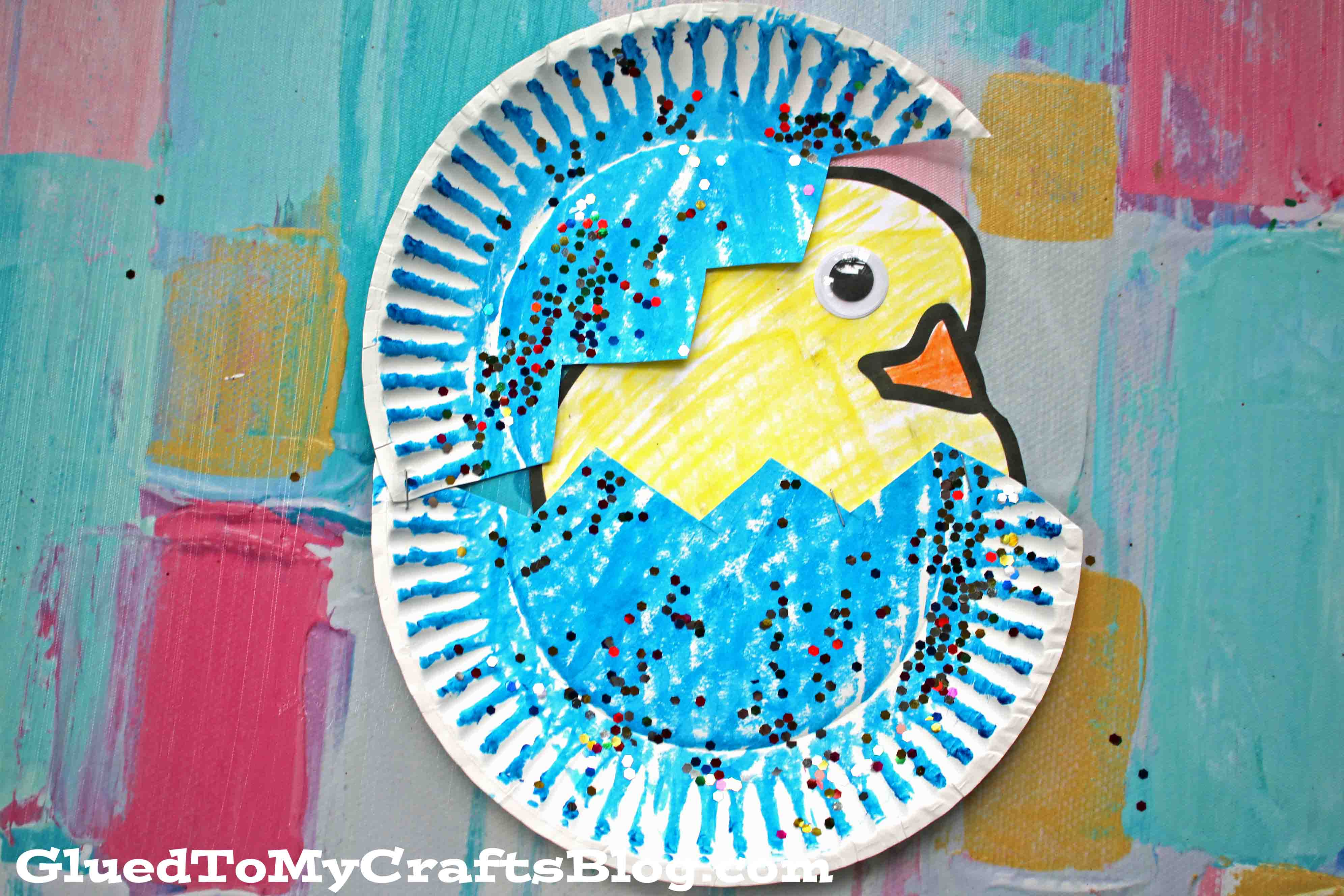 Paper Plate Hatching Baby Chick - Kid Craft