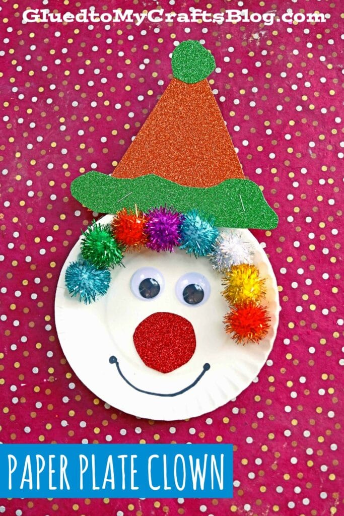 Pom Pom & Paper Plate Clown - Kid Craft