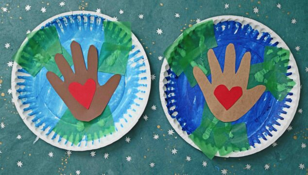 Paper Plate Earth - Craft Idea For Kids To Make On Earth Day