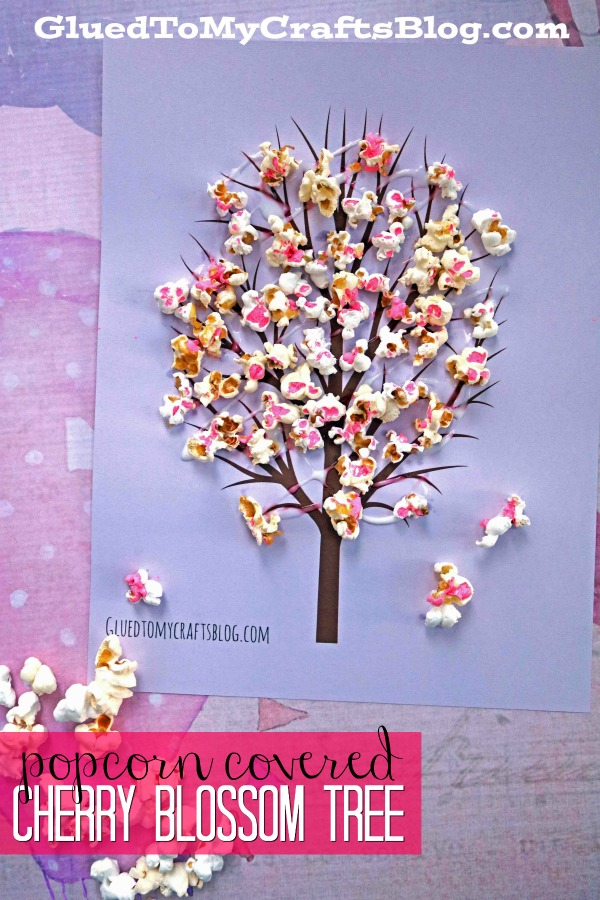 Cherry Blossom Popcorn Tree - Kid Craft Idea For Spring