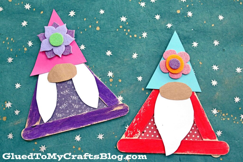 Popsicle Stick Garden Gnomes - Kid Craft Idea For Spring