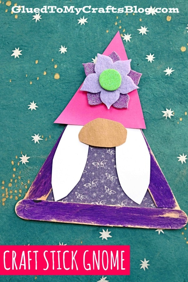 Popsicle Stick Garden Gnome Girl - Kid Craft Idea For Spring