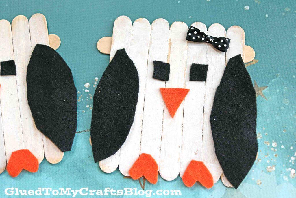 Popsicle Stick Penguin - Kid Craft Idea For Winter