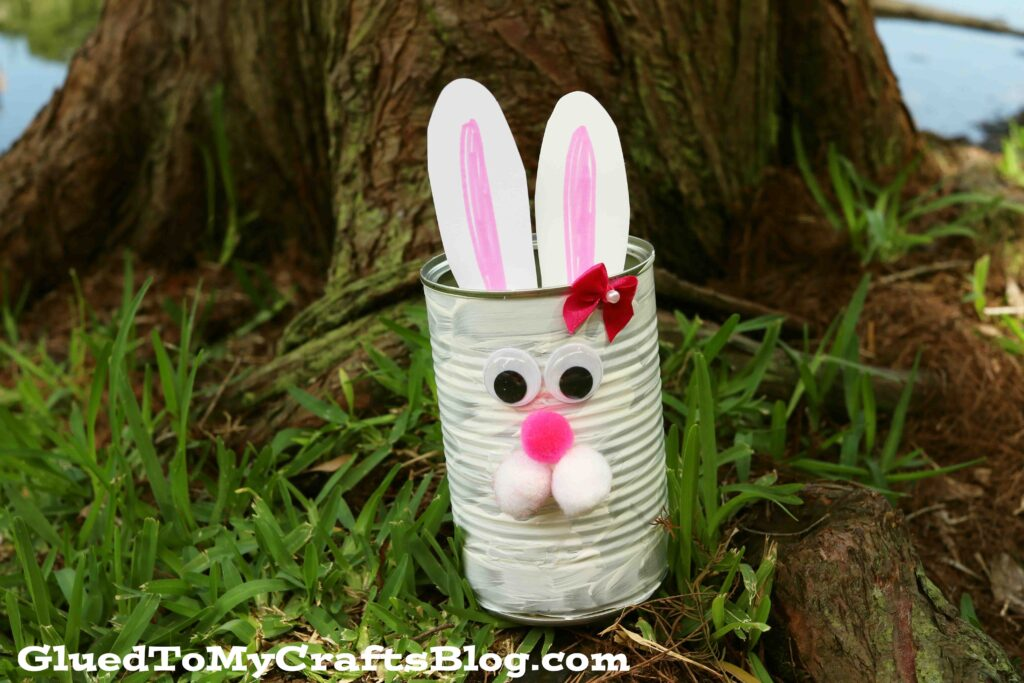 Upcycled Tin Can Bunny - Kid Craft Idea For Spring