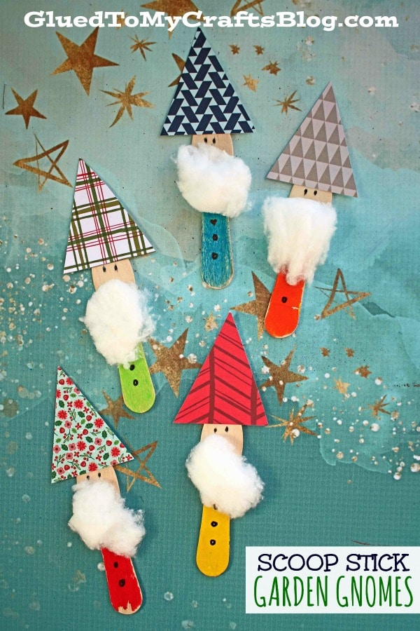 Scoop Stick Garden Gnomes - Kid Craft