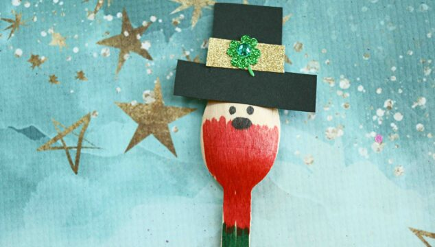 Wooden Spoon Leprechaun - St. Patrick's Day Kid Craft