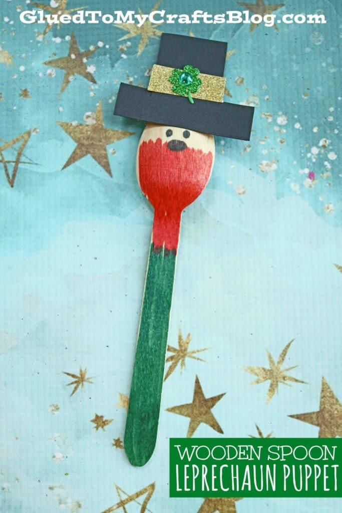 Wooden Spoon Leprechaun - St. Patrick's Day Kid Craft
