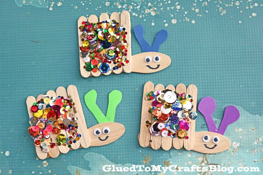 Popsicle Stick Snails - Spring Inspired Kid Craft Idea
