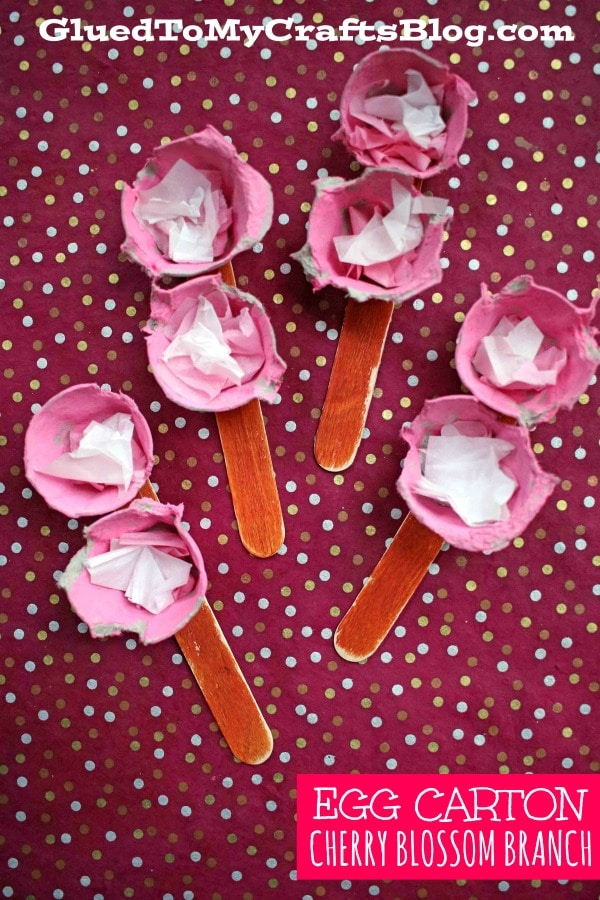 Egg Carton Cherry Blossom - Kid Craft