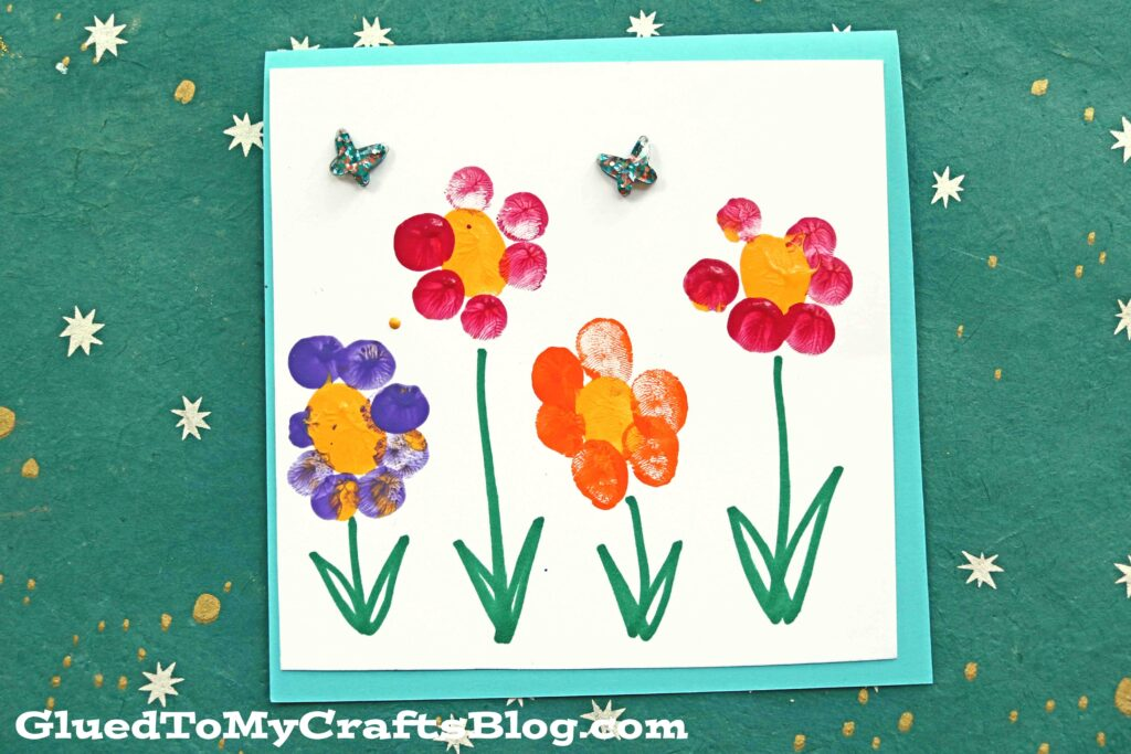 Fingerprint Flower Note Cards - Kid Craft
