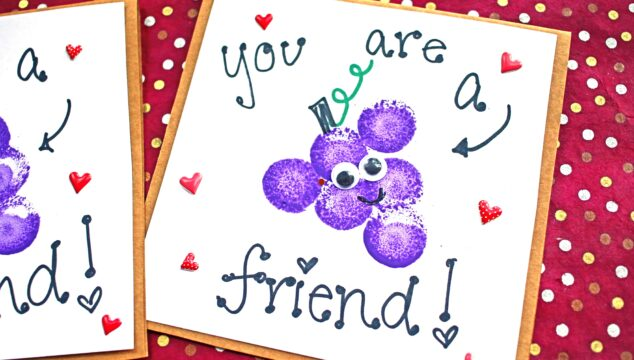 "You Are A ""Grape"" Friend - Card Kid Craft Idea"