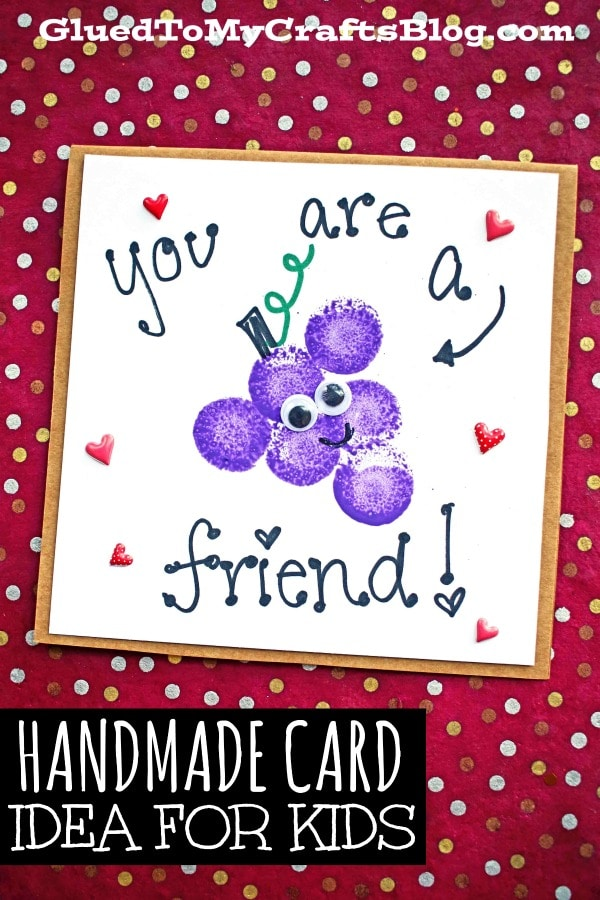 "You Are A ""Grape"" Friend - Card Kid Craft Idea"