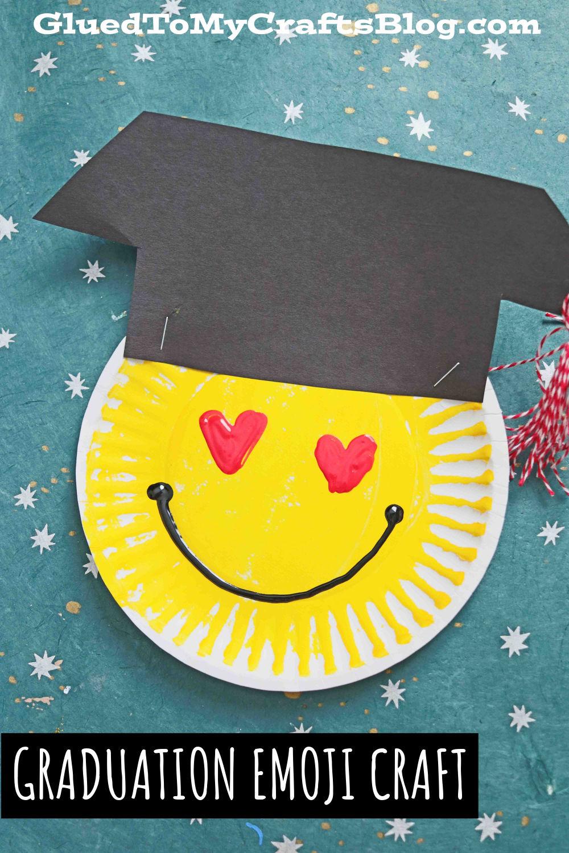 Paper Plate Graduation Emoji Craft Idea For Kids