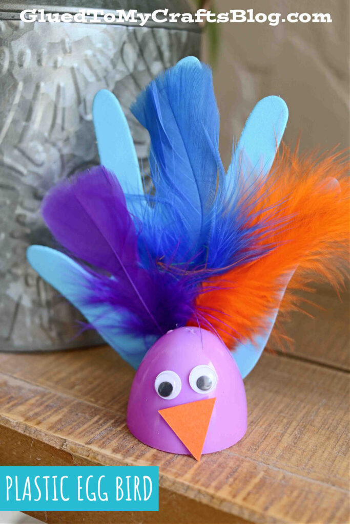 Recycled Plastic Easter Egg Birds - Kid Craft Idea For Spring