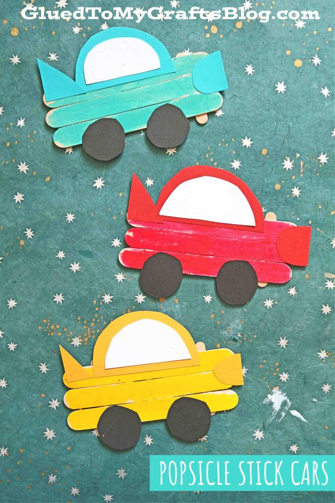 Popsicle Stick Cars - Extra Speedy Kid Craft Idea
