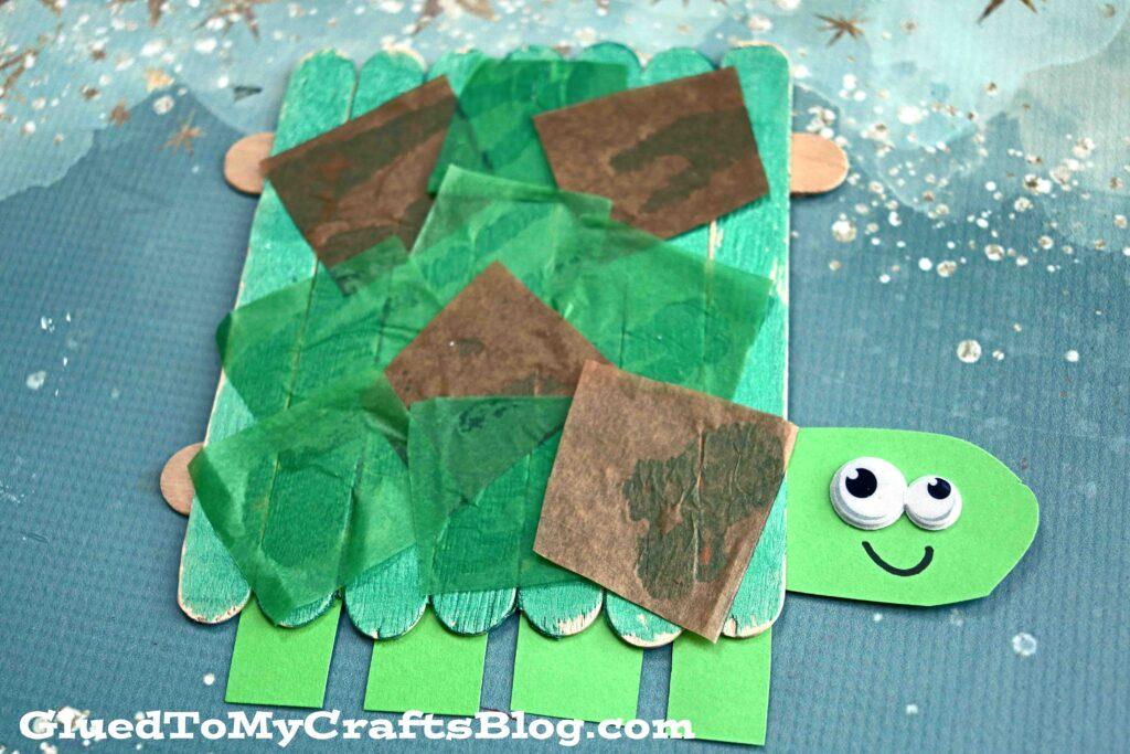 Popsicle Stick Turtle - Kid Craft Idea