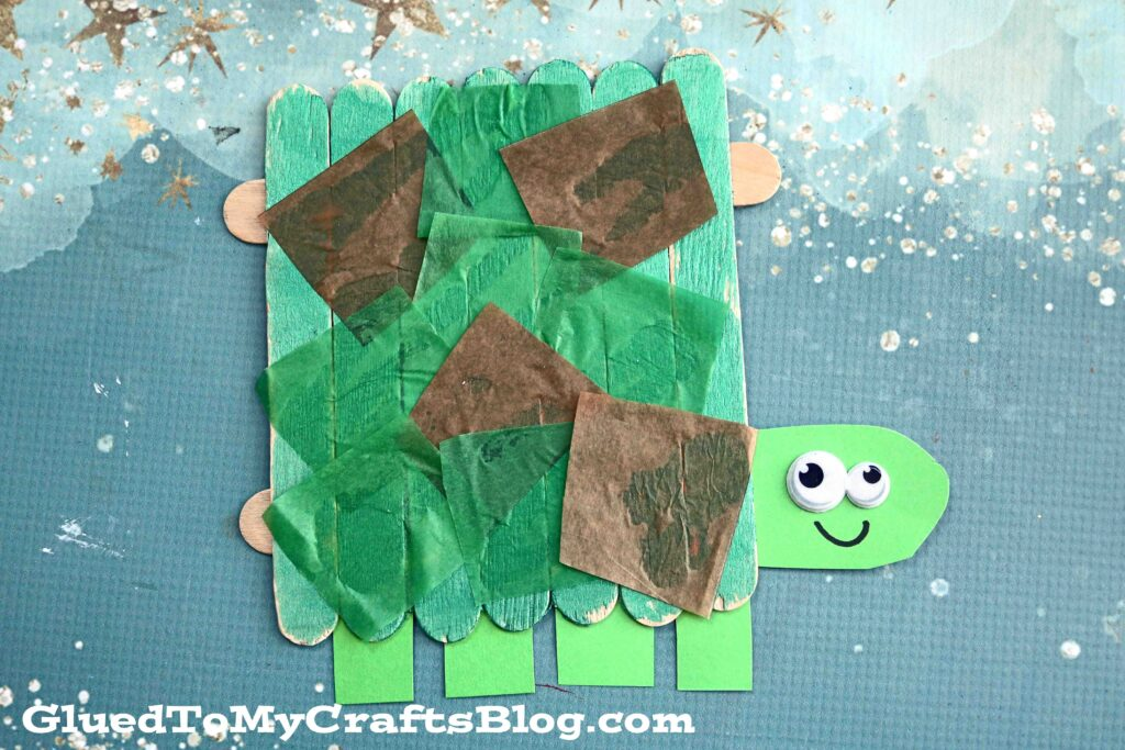 Popsicle Stick Turtle - Kid Craft Idea
