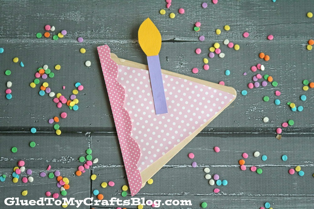 Popsicle Stick Birthday Cake Kid Craft Glued To My Crafts