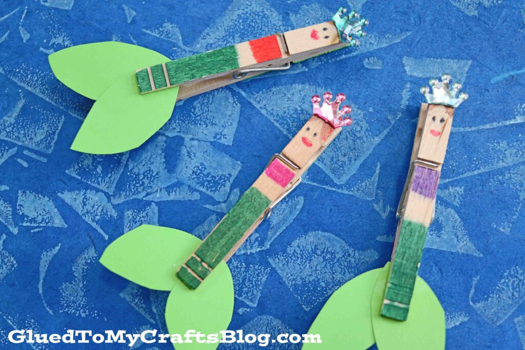 Clothespin Mermaids - Kid Craft Idea For Summer