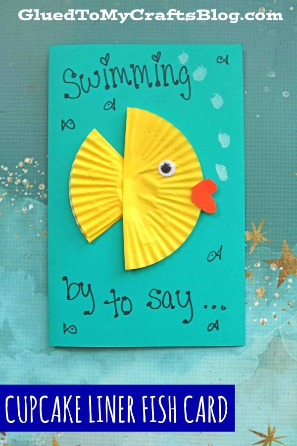 Cupcake Liner Fish Card - Kid Craft Idea