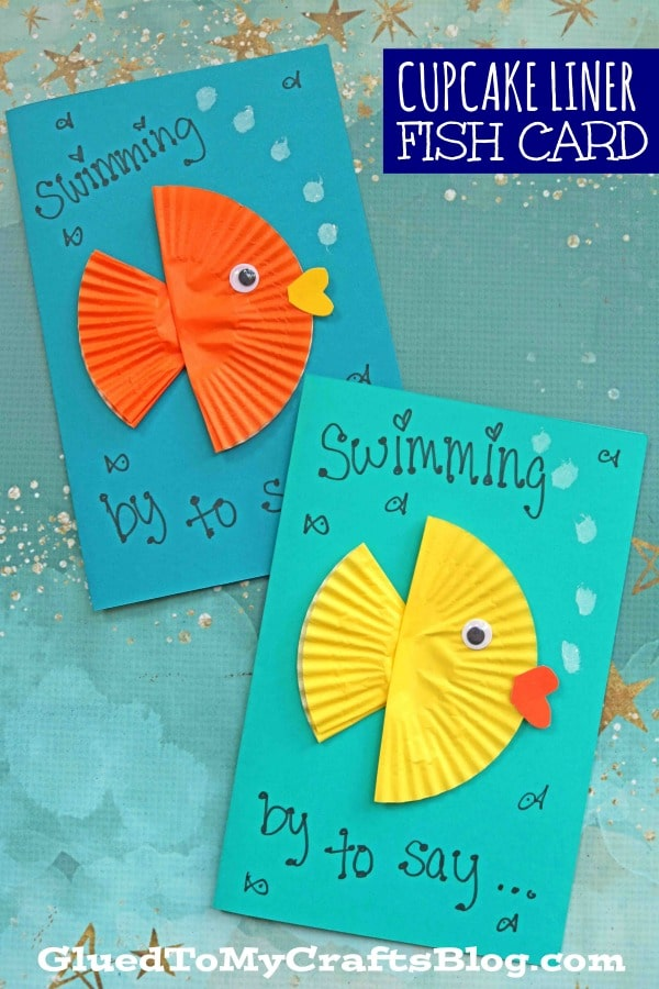 Cupcake Liner Fish - Kid Craft Card Idea