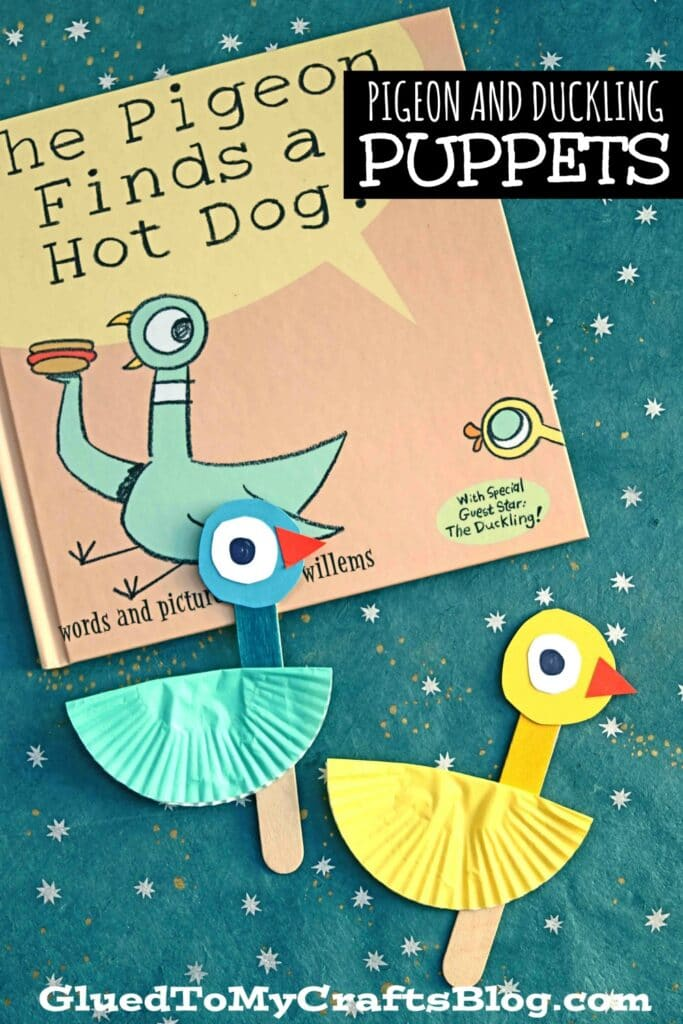 Cupcake Liner Pigeon & Duckling Puppet - Kid Craft