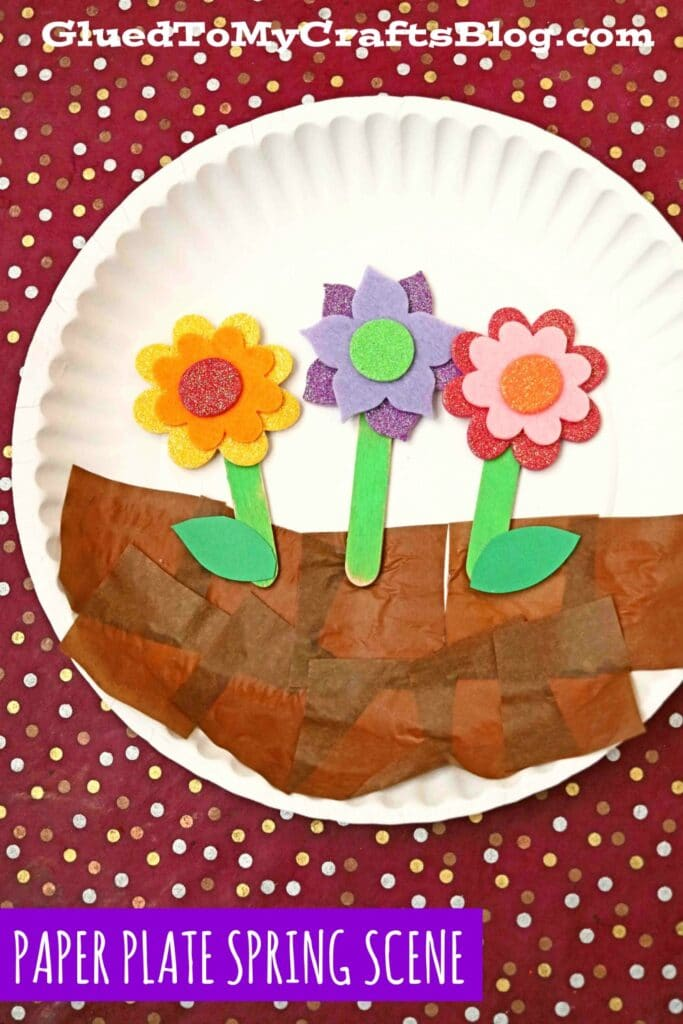 Paper Plate Spring Scene - Kid Craft