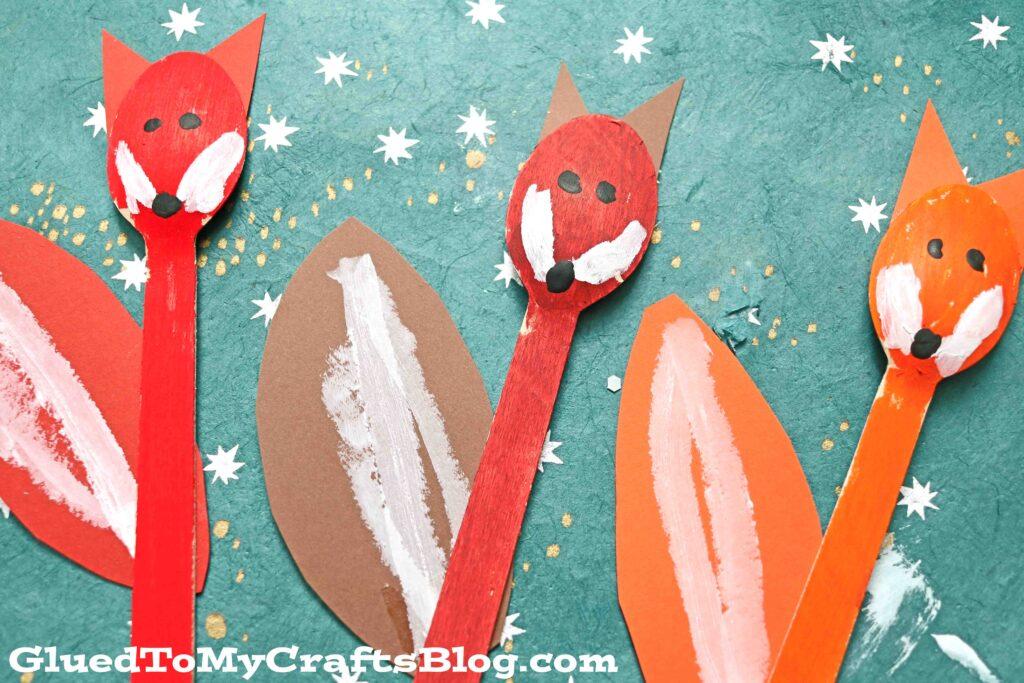 Wooden Spoon Fox Puppet - Kid Craft Idea