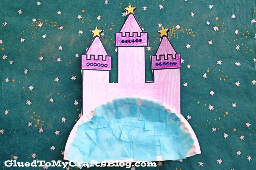 Paper Plate Princess Castle In The Sky - Kid Craft