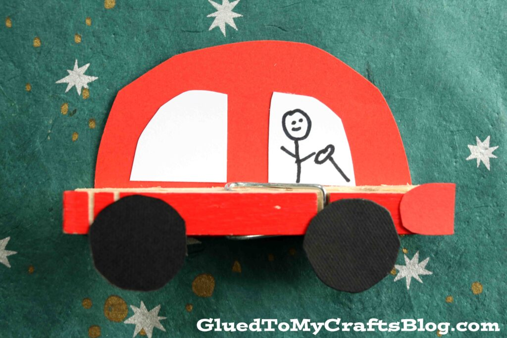 Paper & Clothespin Cars - Kid Craft