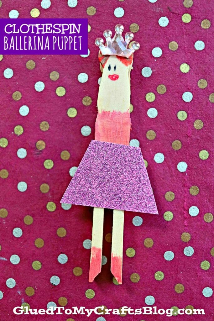 Flat Clothespin Ballerinas - Pretend Play Kid Craft Idea