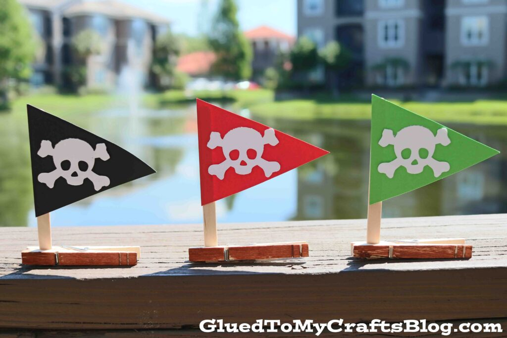 Paper & Clothespin Pirate Ships - Summer Kid Craft