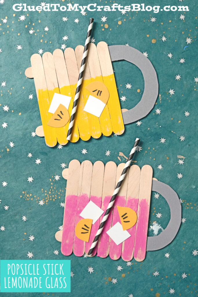 Popsicle Stick Pink Lemonade - Kid Craft Idea For Summer