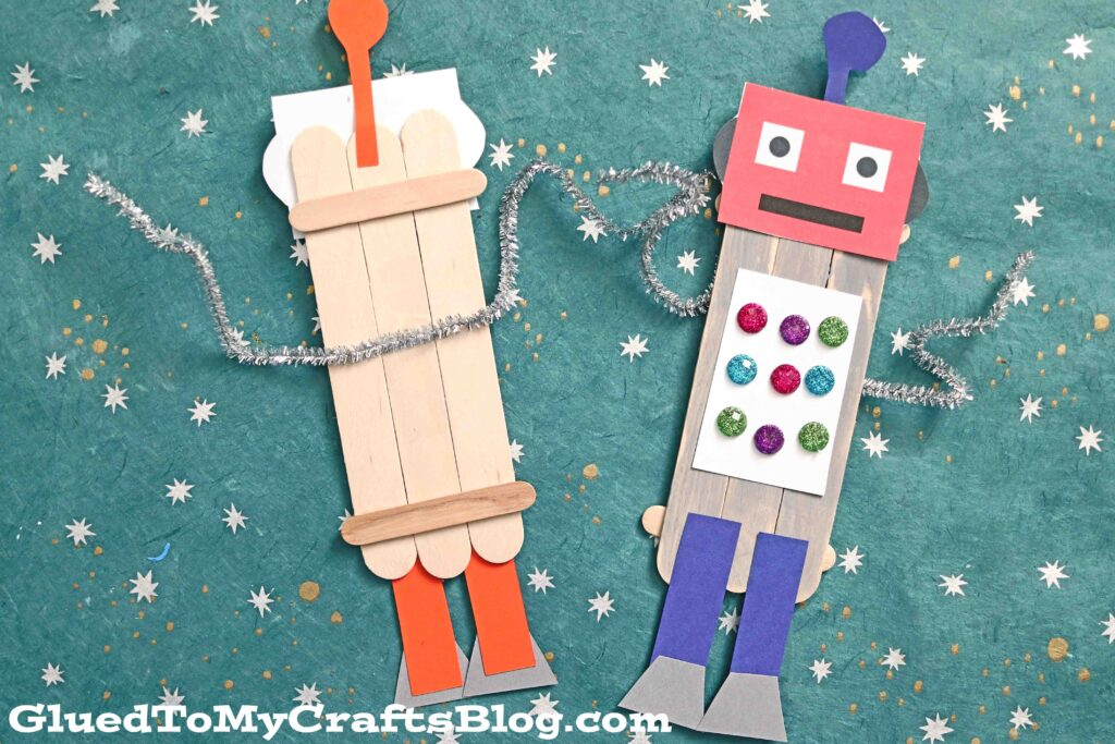 Popsicle Stick Robots - Super Creative Kid Craft Idea