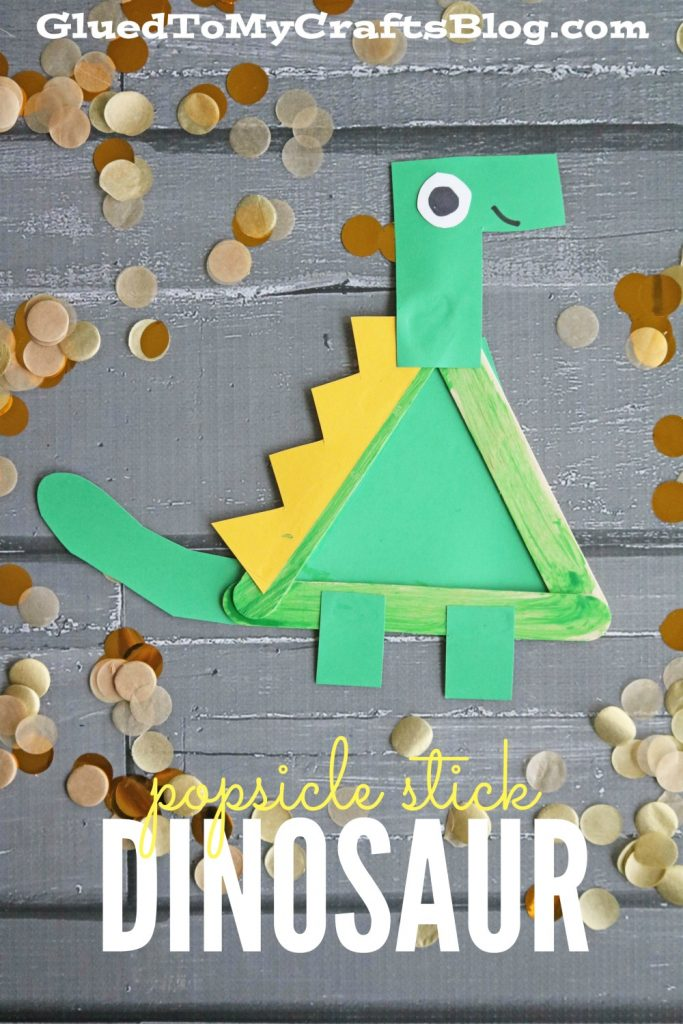 Popsicle Stick Dinosaur - Kid Craft